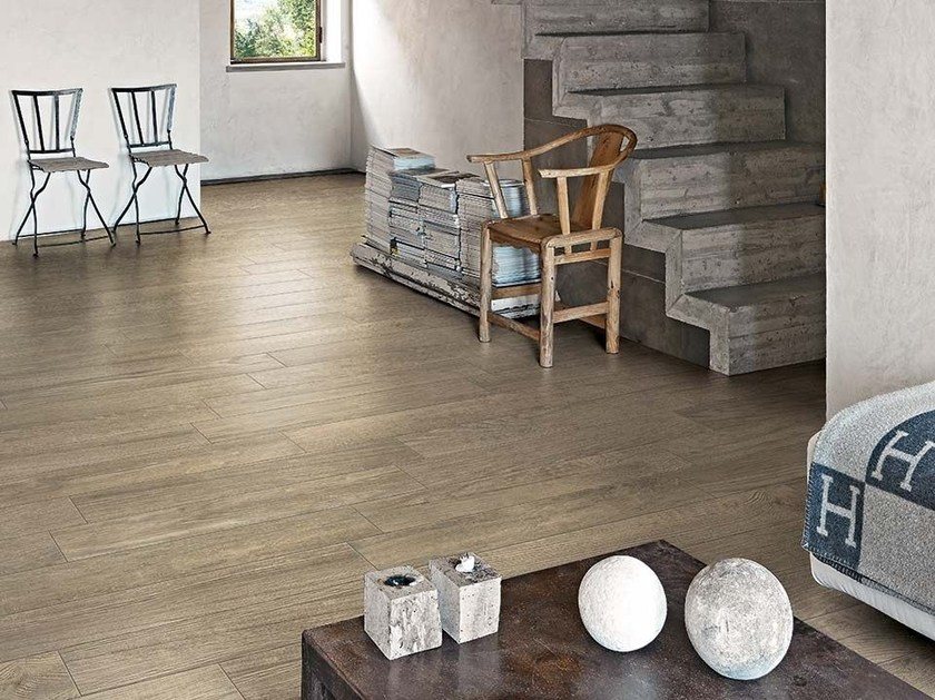 Porcelain stoneware wall/floor tiles with wood effect GREENTECH by Floor Gres