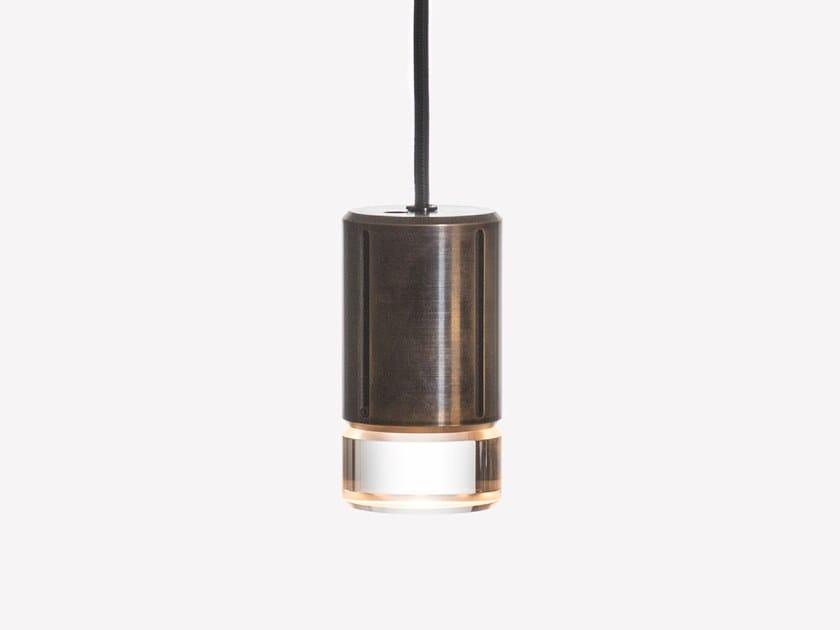 Lampada a sospensione a LED in ottone e vetro soffiato GREENWAY A1 by ADesignStudio