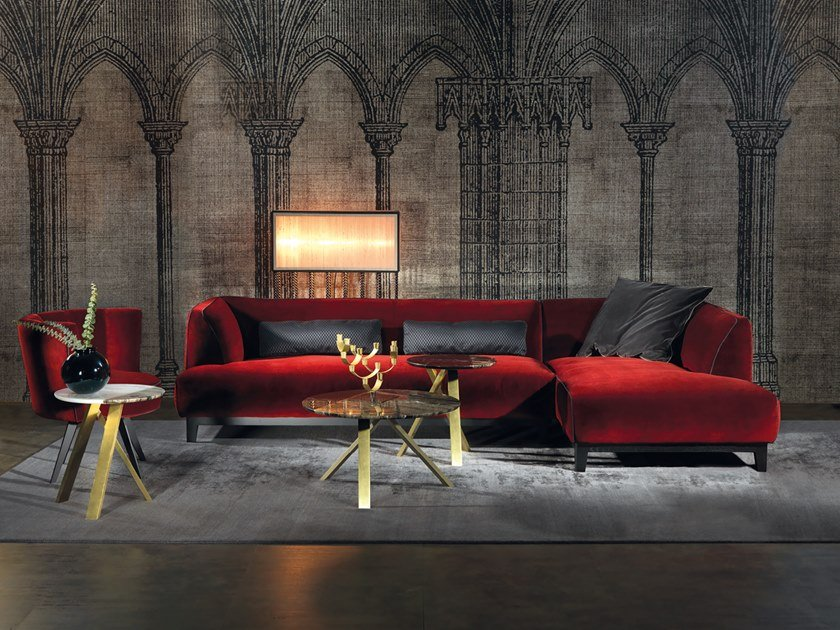 Sectional velvet sofa GREG | Sectional sofa by Borzalino
