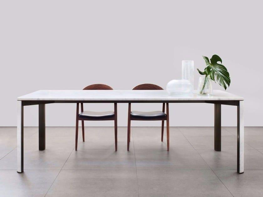Gregorio tavolo in marmo di carrara collezione gregorio by mg