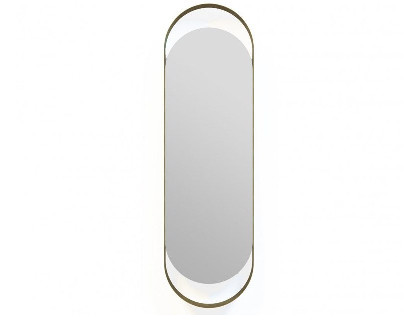 Oval framed wall-mounted mirror GRETA | Mirror by MARIONI