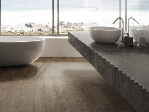 Porcelain Stoneware Wall Tiles With Marble Effect GREY STONE By Atlas Plan