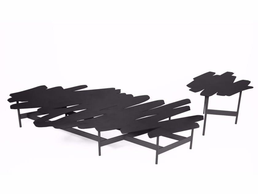 Tavolino laccato in acciaio GRIBOUILLE by ROCHE BOBOIS