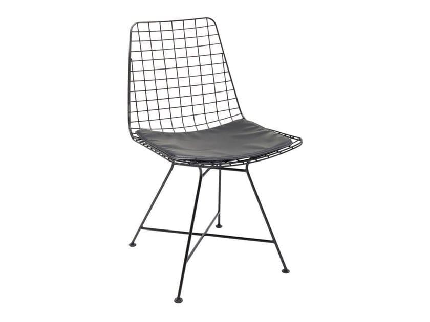 Powder coated steel chair GRID BLACK | Chair by KARE-DESIGN