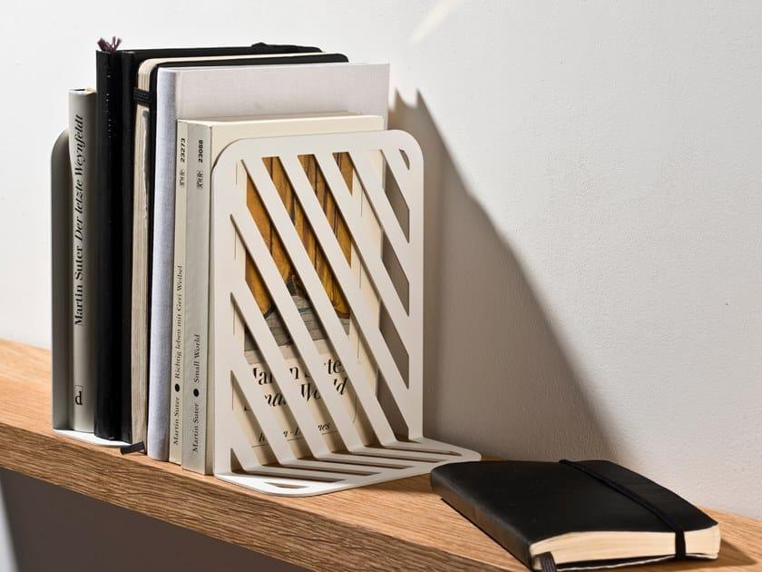 Fermalibri in lamiera GRID BOOKEND #01 by weld & co