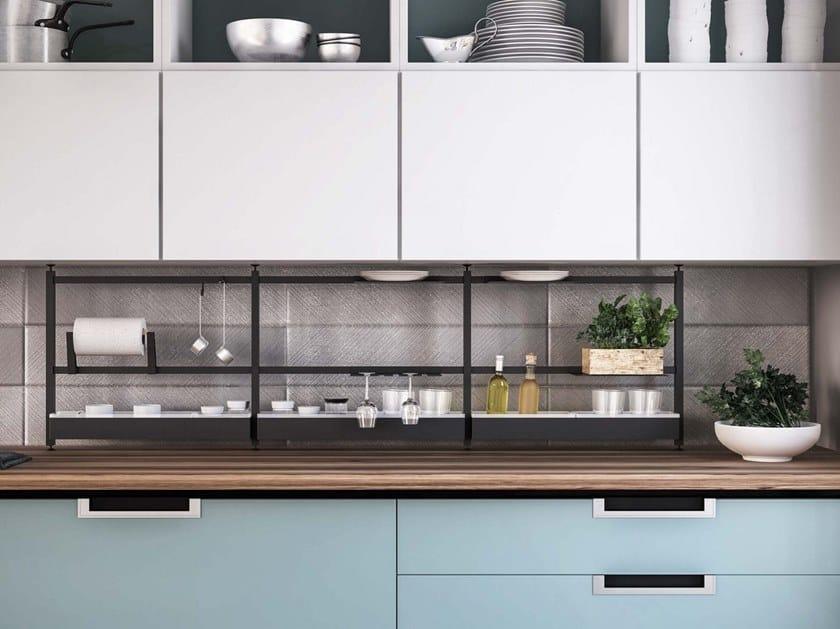 Schienale per cucina in metallo GRID by Damiano Latini
