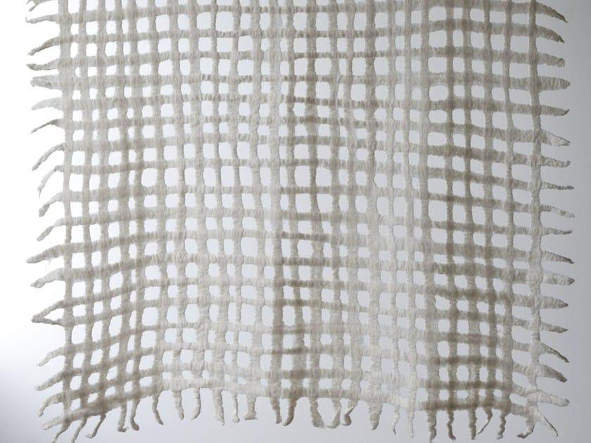 Handmade wool felt lap robe GRID by Ronel Jordaan