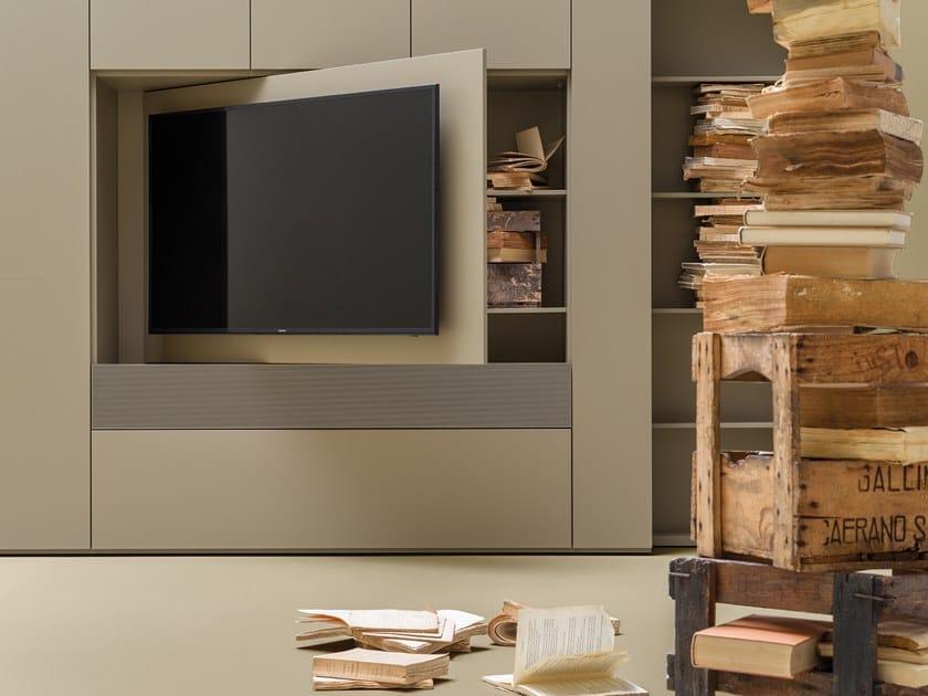 Tv Caccaro Con Apribile GridParete Attrezzata Porta cTFK1J3l