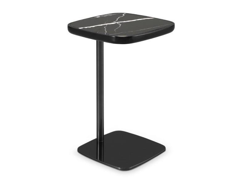 Servizio Tavolino Praddy Griffith Marquina Marmo Nero Quadrato In Di EHWYD9I2