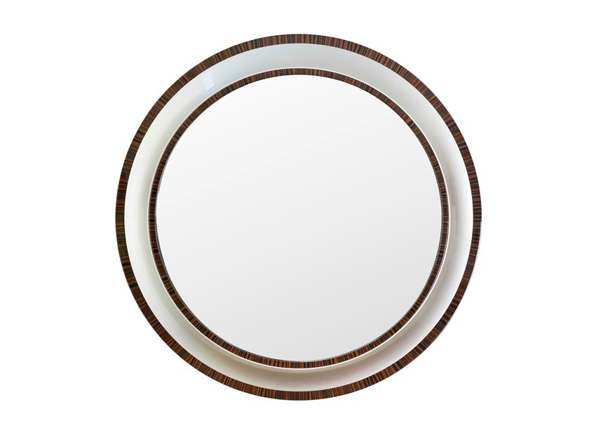 Round framed wall-mounted mirror GRIFO by Green Apple