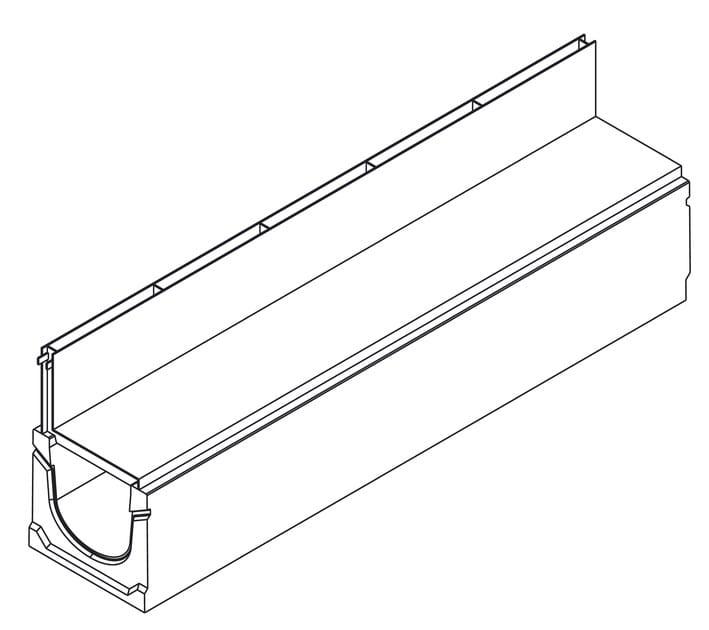 Basic+ 150H185 con griglia a fessura asimmetrica