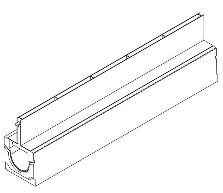 Basic+ 100H160 con griglia a fessura simmetrica