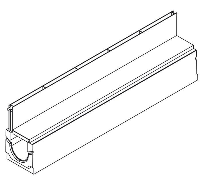 Basic+ 100H160 con griglia a fessura asimmetrica