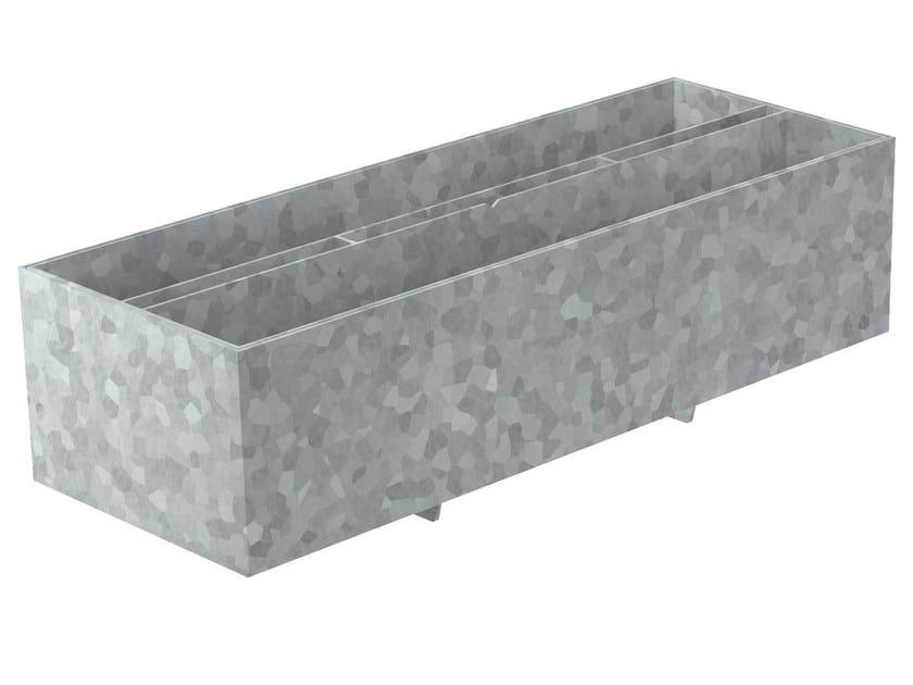 Elemento d'ispezione con fessura simmetrica in acciaio zincato