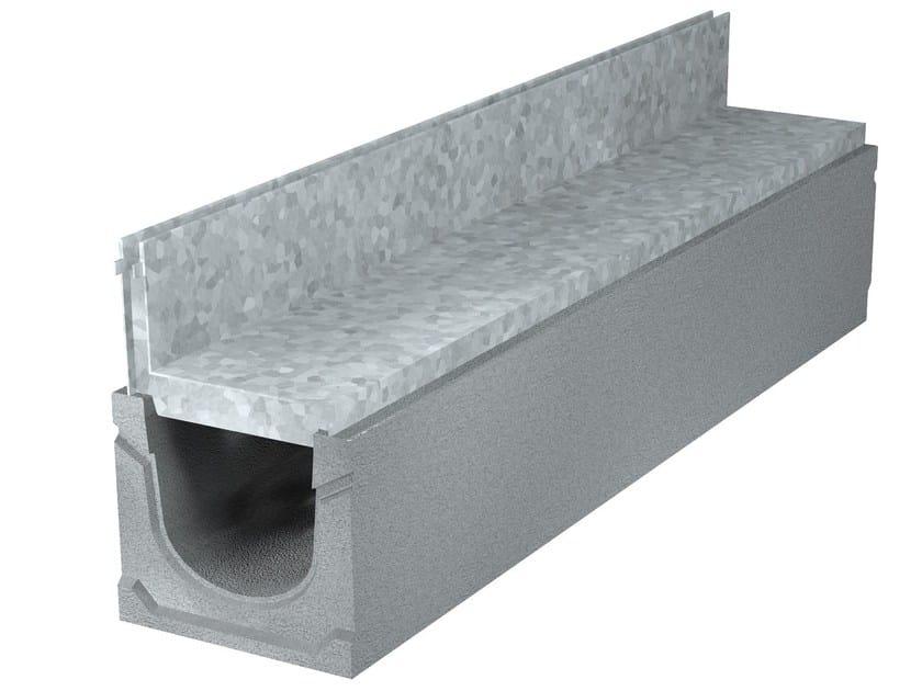 GRIGLIE A FESSURA | Elemento e canale di drenaggio Sistema a fessura con griglia a fessura in acciaio zincato asimmetrica