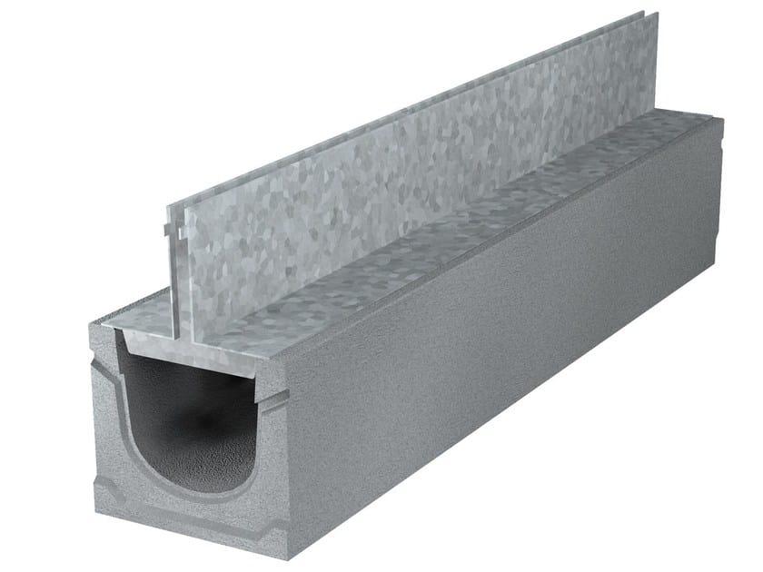 GRIGLIE A FESSURA | Elemento e canale di drenaggio Sistema a fessura con griglia in acciaio zincato simmetrica
