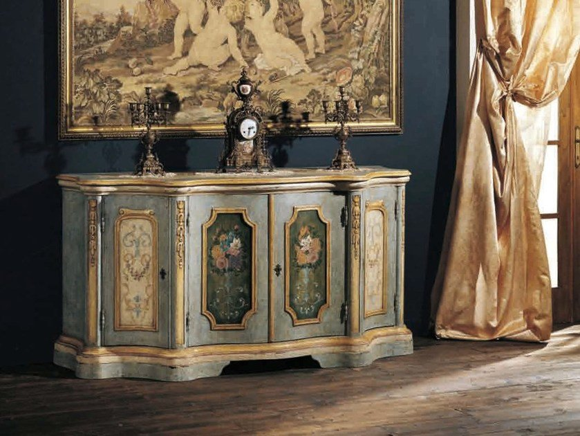 Lacquered sideboard with doors GRIMALDI by Arvestyle