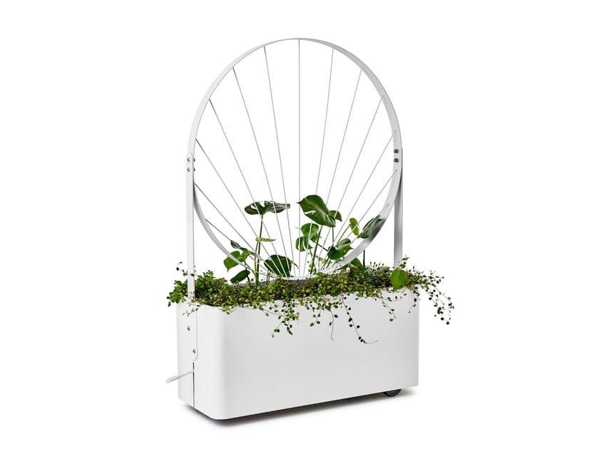 Powder coated steel Flower pot GRO by Nola Industrier