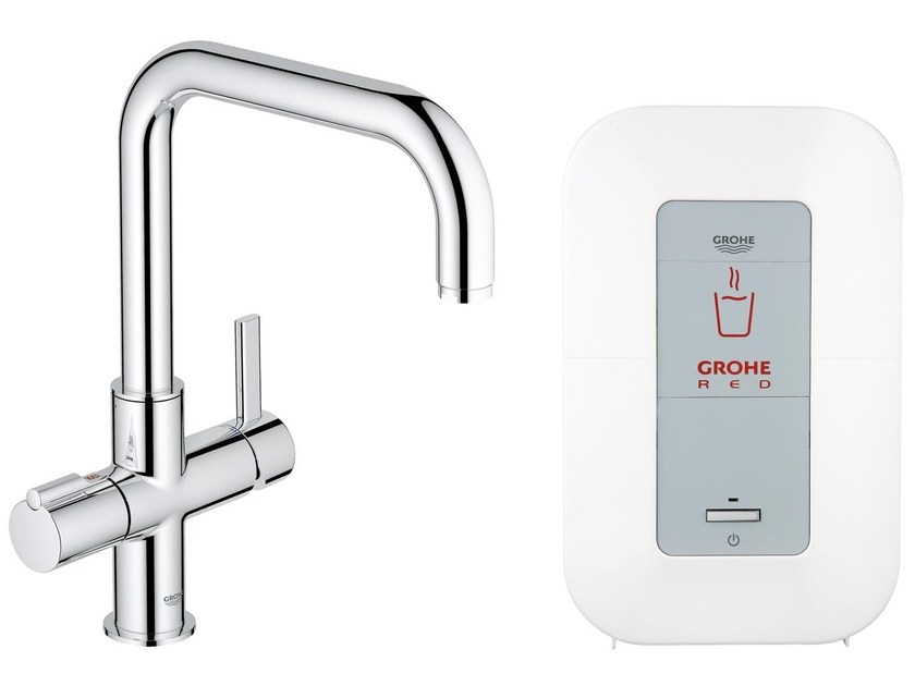 Chromed brass Hot Water Dispenser GROHE RED® DUO by Grohe