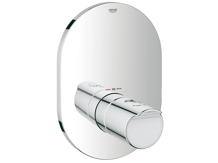Miscelatore termostatico per doccia monoforo con piastra GROHTHERM 2000 | Miscelatore termostatico per doccia monocomando by Grohe