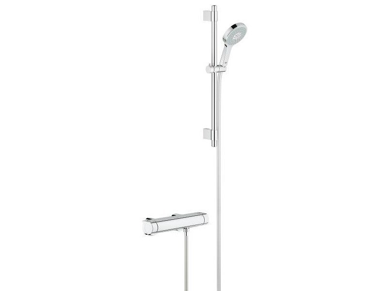 2 hole thermostatic shower mixer GROHTHERM 2000 | Thermostatic shower mixer with hand shower by Grohe