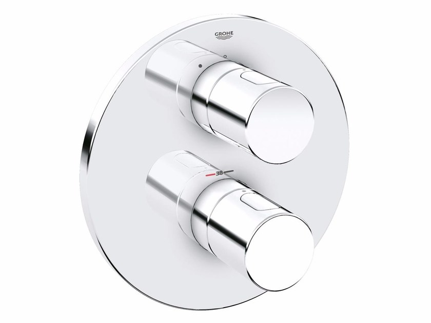 Thermostatic shower mixer with plate GROHTHERM 3000 COSMOPOLITAN | Thermostatic shower mixer with plate by Grohe