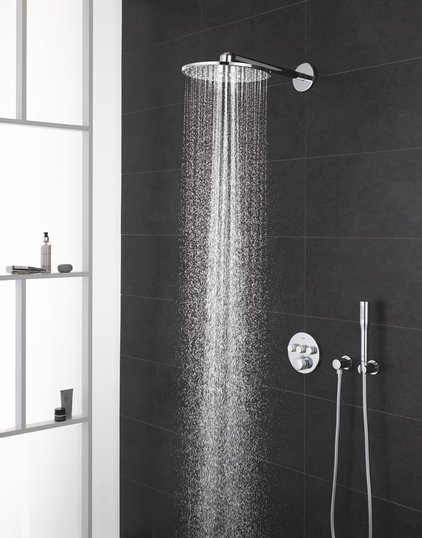 design highres shower kits offer is use options luxurious daily built of systems high tempesta system for new expo settings rigors to grohe euphoria modern and press room hd ideal withstand the