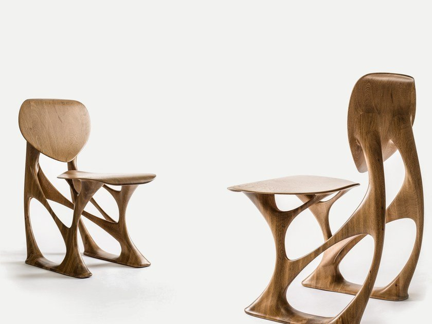 Solid Wood Armchair GROOVE By ENNE