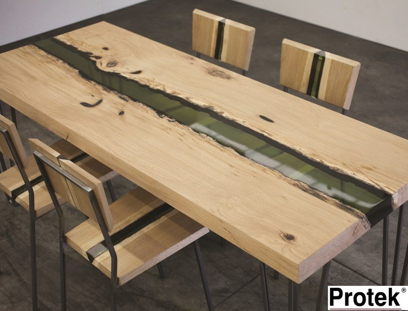 Rectangular wooden dining table GROOVE | Table by PROTEK®