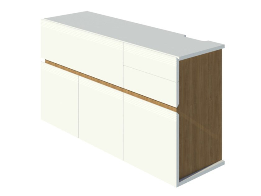 Mobile bar laccato in rovere GROOVES | Mobile bar by 2K1M