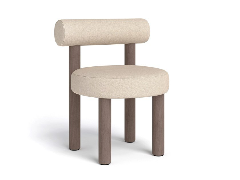 Upholstered fabric and wood chair GROPIUS CS2 by NOOM