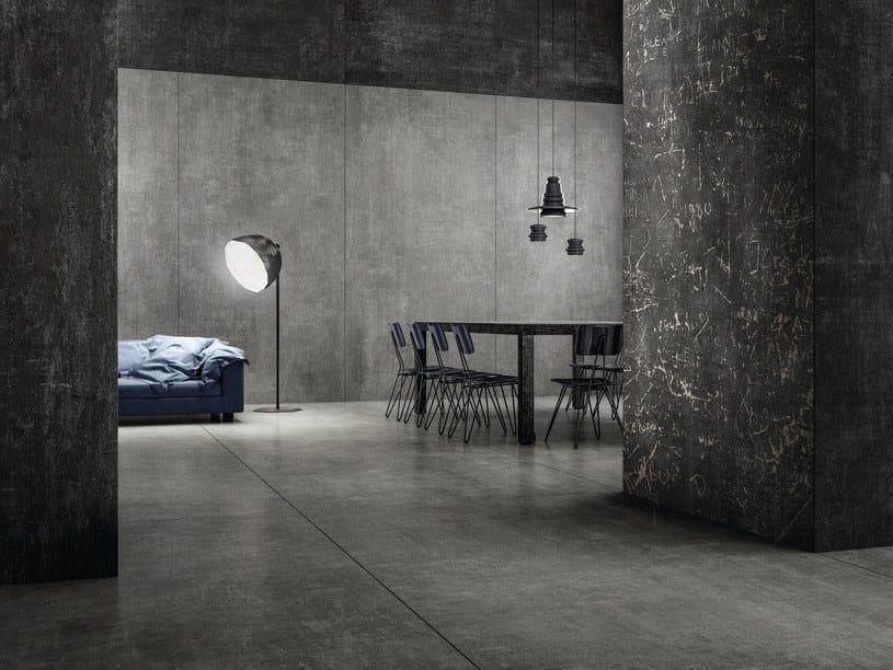 Porcelain stoneware wall/floor tiles GRUNGE CONCRETE 300X150 CM by Iris Ceramica
