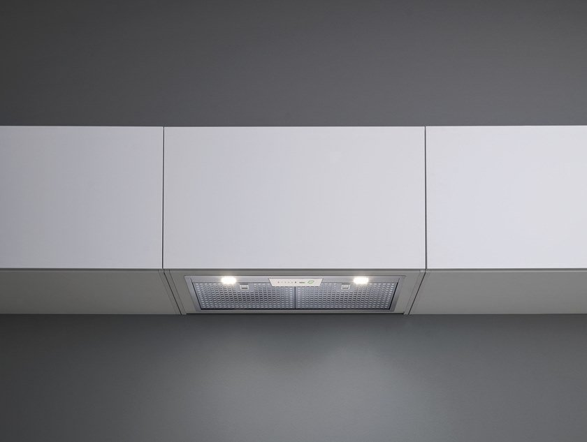 Built-in stainless steel cooker hood with bipolar controlled ionization with integrated lighting GRUPPO INCASSO E.ION® SYSTEM by Falmec