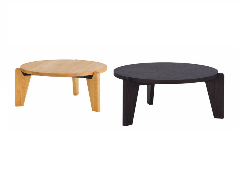 Round Wooden Coffee Table GuÉridon Bas By Vitra