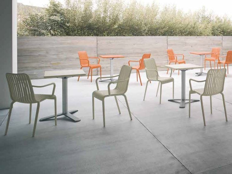 Stackable technopolymer garden chair with armrests GUELL by iCarraro