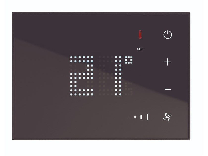 HOTEL ROOM MANAGEMENT Sonda di Temperatura digitale Touch Nero