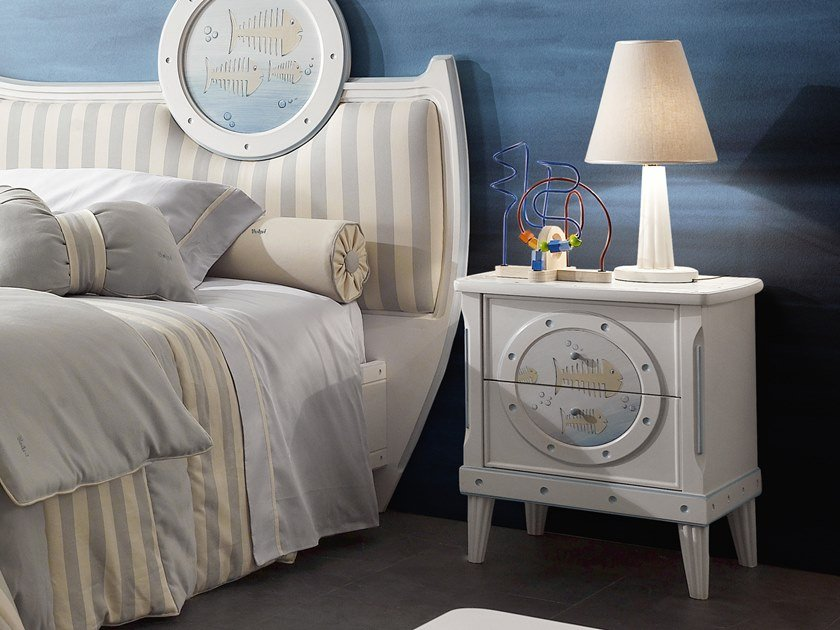 Kids' bedside table with drawers GUGLIELMO | Kids' bedside table by VOLPI