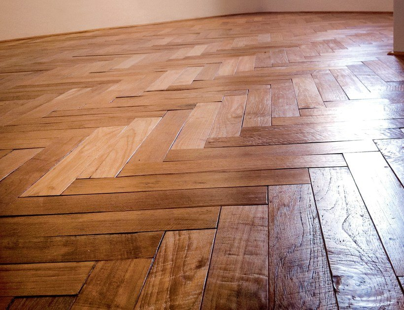 Untreated solid wood parquet GUINEA | Reclaimed Teak by Alma by Giorio