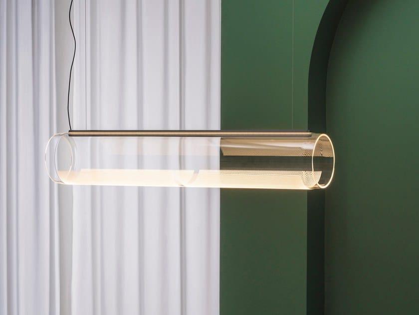 LED Borosilicate glass pendant lamp GUISE | Borosilicate glass pendant lamp by Vibia