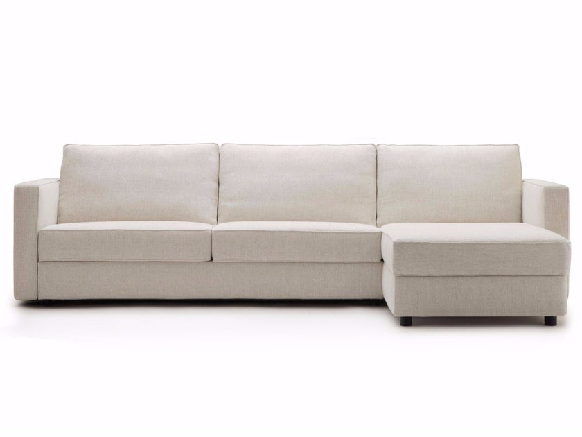 Fabric sofa bed with chaise longue GULLIVER | Sofa bed with chaise longue by BertO