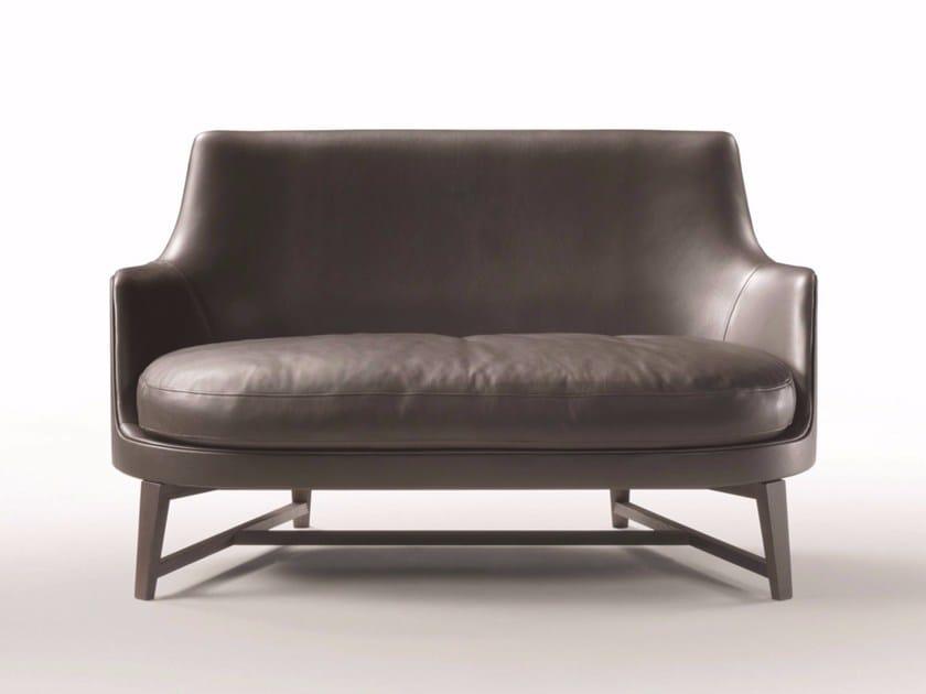 2 seater leather sofa GUSCIO | Leather sofa by FLEXFORM