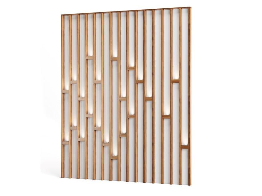 Pannello decorativo luminoso in legno impiallacciato GUSTATUS by DWFI