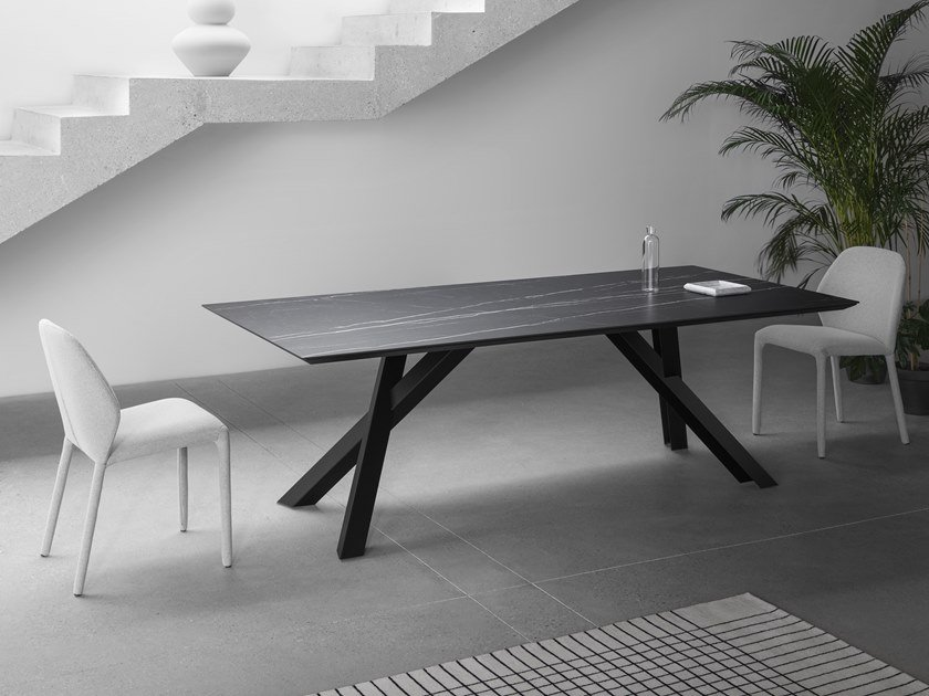 Rectangular ceramic dining table GUSTAVE | Ceramic table by Miniforms