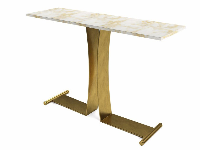 Rectangular brass console table GUY | Console table by MARIONI