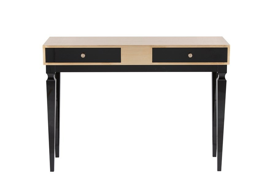 Lacquered rectangular wooden console table GWENDOLYN by Green Apple