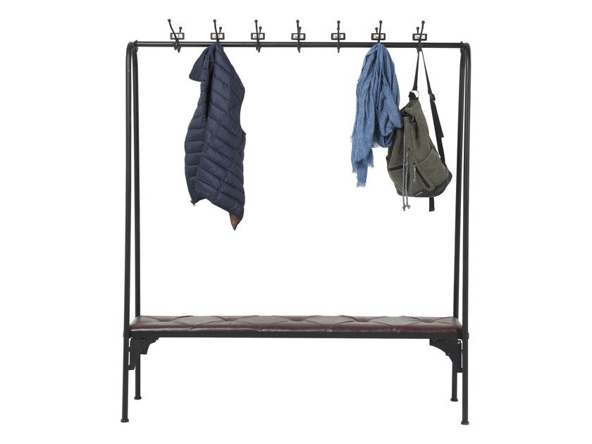 Free standing lacquered steel hallway unit GYM BENCH by KARE-DESIGN