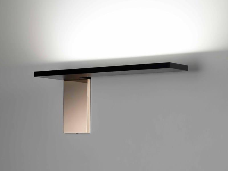 Applique a LED a luce indiretta in alluminio GEMINI by PURALUCE