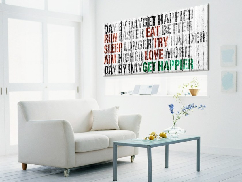 Stampa su tela Get Happier cod. 400008 by MyCollection.it