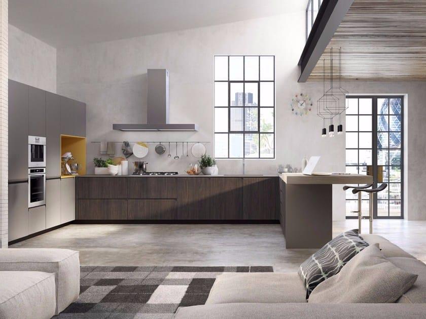 GIBILTERRA | Cucina con maniglie integrate By Del Tongo design ...