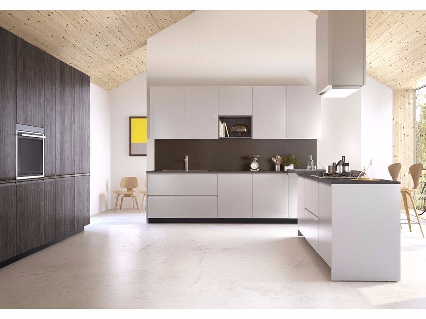 Kitchen with integrated handles GIBILTERRA | Kitchen with integrated handles by Del Tongo